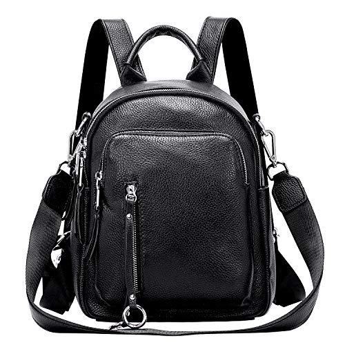 ALTOSY Kleine Damen Rucksack Tasche Echtes Leder Schultertasche Casual Daypack (S10,...