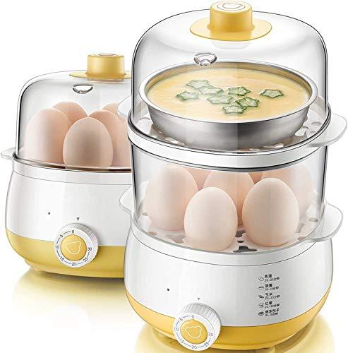 DKee Huevo Caldera de Huevo eléctrico, máquina de Desayuno de Vapor de Vapor Multifuncional con Apagado automático de cocción de Caldera de Huevo Suave, Mediana y hervida (Color : Parent)
