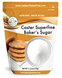 Judee's Superfine Caster Baker's Sugar (11.25 OZ)(5 lb Also) Non-GMO ~ Made in USA ~ Packaged in a Gluten and Nut Free Facility