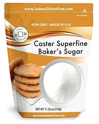 Judee's Superfine Caster Baker's Sugar (11.25 OZ) Non-GMO ~ Made in USA ~ Packaged in a Gluten and Nut Free Facility