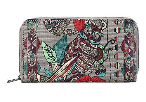 Sakroots Artist Circle Large Wallet (Charcoal)