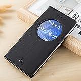 Coque Zenfone 3 ZE552KL, Yoota Etui de Protection en Cuir Coque à rabat pour Asus Zenfone 3 ZE552KL Slim Housse avec Fermeture...