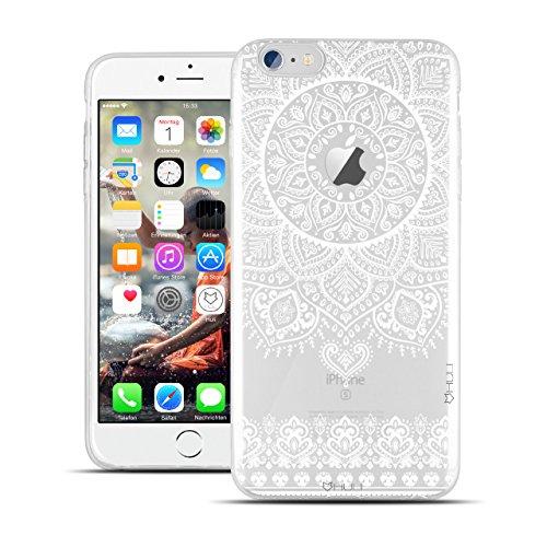 HULI Design Hülle Hülle für Apple iPhone 6 / 6s Smartphone im Orientalischen Muster weiß - Schutzhülle aus Silikon mit orientalischem Mandala Henna Ornament Traumfänger - Handyhülle