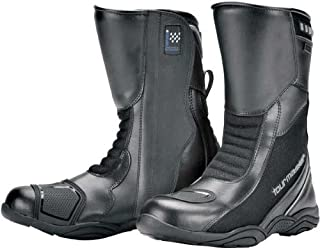 Tour Master Solution WP Air Road Men's Leather Sports Bike Motorcycle Boots - Black / Size 9W
