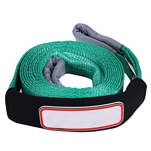 KIMISS sleepkabel, 5 m/16.4 ft 5 tonen auto sleepkabel riem tow kabel met haak emmergency heavy duty