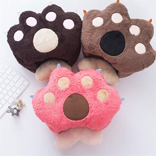 None/Brand Tappetino per Mouse USB Scaldamani, Scaldamani, Tappetino per Mouse ergonomico riscaldato con poggiapolsi, Riscaldamento Sicuro (caffè Leggero)