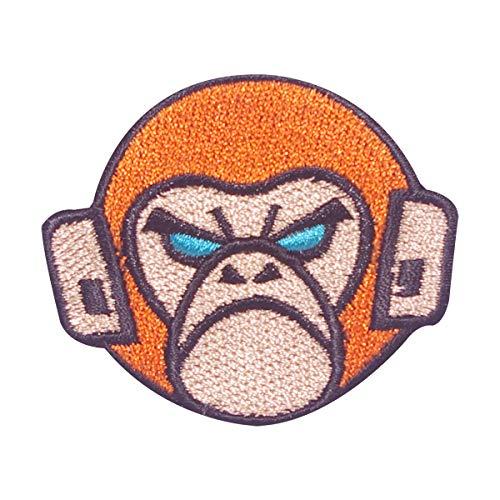 Cobra Tactical Solutions - Tactical Monkey Patch marrón con Cierre de Velcro para Airsoft, Paintball, Ropa táctica y Mochila