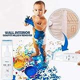 Luccase Graffiti Schimmel Entferner 4.3 x 10.5cm Wall Interior Graffiti Reinigungsmittel Entferner Fußabdrücke Farben Flecken Entfernen Werkzeuge, Mehrfarbig