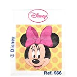Haberdashery Online Kit Medio Punto para niños, 18 x 15 cms. Colección Minnie Mouse - Modelo 566