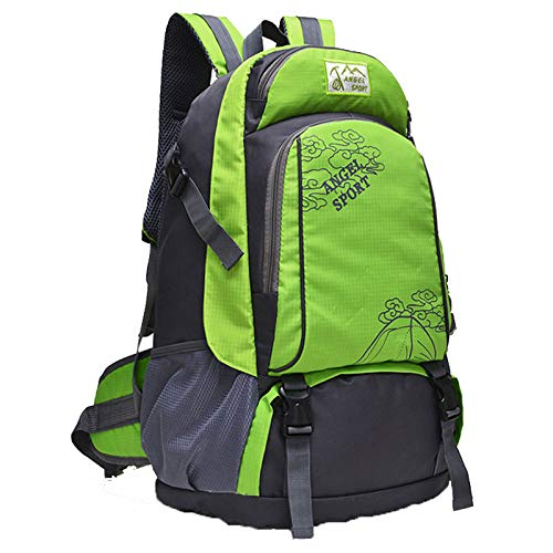 Travel Backpack Sports Men and Women Outdoor Travel Bag Large Capacity Mountaineering Bag Green Upgrade Version 35 * 20 * 52cm