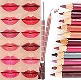 cineen 28diversi colori professionale Lipliner matita per labbra rossetto impermeabile Eyeliner Pencil Set con Coperchio