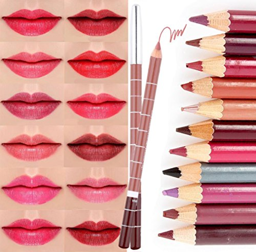 CINEEN 28 Verschieden Farben Professionelle LipLiner Lippenstift Lippenkonturenstift Wasserdichte...