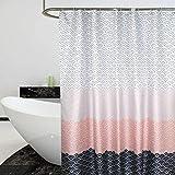 YISHU Top Qualität Duschvorhang Wasserdicht Anti-Schimmel Stoff inkl. 12 Duschvorhangringe für Badezimmer Weiß 240x200cm