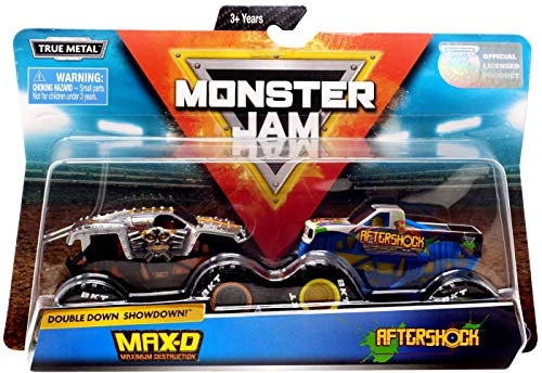 Monster Jam, Official Max D Vs. Aftershock Die-Cast Monster Trucks, 1: 64 Scale, 2 Pack