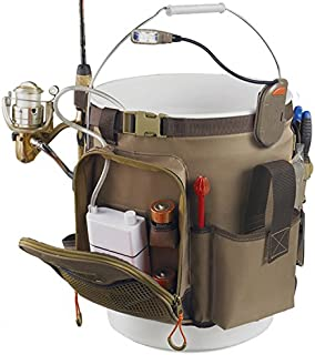 Wild River by CLC WL3506 Tackle Tek Rigger Lighted Bucket Organizer with Plier Holder and Retractable Lanyard, Bucket Not Included