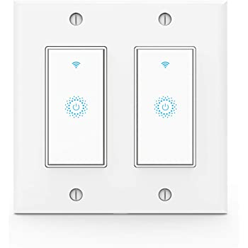 Tobago Smart Switch Smart Light Switch Work With Alexa Google Home Ifttt Voice And Remote Control 2 4g Wifi Schedules And Timers Single Pole No Hub Required Neutral Wire Required Amazon Com