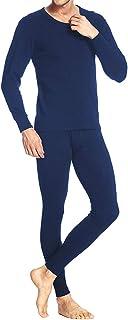 iWoo Men's Thermal Underwear Set Ultra Soft Lightweight Thin Long John Base Layer Tops & Bottoms