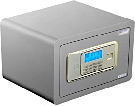 Safe Electronic Password Safe Home Mini Safe in-Wall Office Safe Double Lock Control Double Alarm (Color : Gray, Size : 35...
