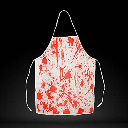 LUOEM Delantal Sangriento Delantal de Halloween Disfraces de Halloween Carnicero de Terror Delantal de Cocinero de Cocina para Fiesta de Disfraces Adultos