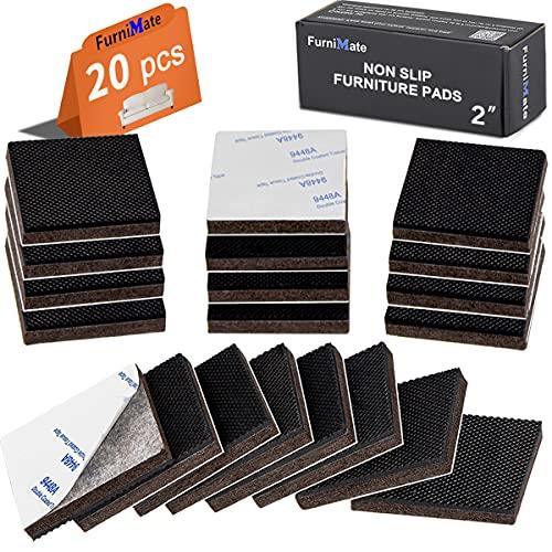 FurniMate Non Slip Furniture Pads 20 Pieces 2'...