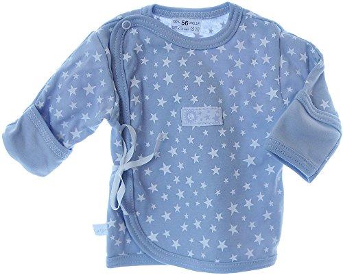 La Bortini Hemdchen Wickelshirt Babyhemdchen Shirt Flügelhemdchen 56 62 mit Kratzschutz Grau (56)