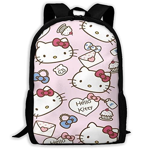 Pink Hello Kitty (2) Bolsas escolares Senderismo Mochila escolar Mochila Mujeres Hombres