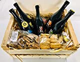 EXCìRA -BIRRA ARTIGIANALE - IDEA REGALO di NATALE - Lager Bionda + Lager Rossa + Weiss + I.P.A. + A.P.A. -37,5cl + Biscotti e Schiacciatina alla Birra 200gr - Da I.C.B. Italian Craft Brewery