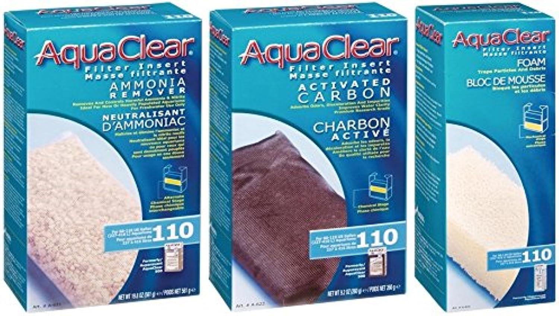 Aquaclear 110 Replacement Media Bundle  Sponge, Carbon, Ammonia Remover