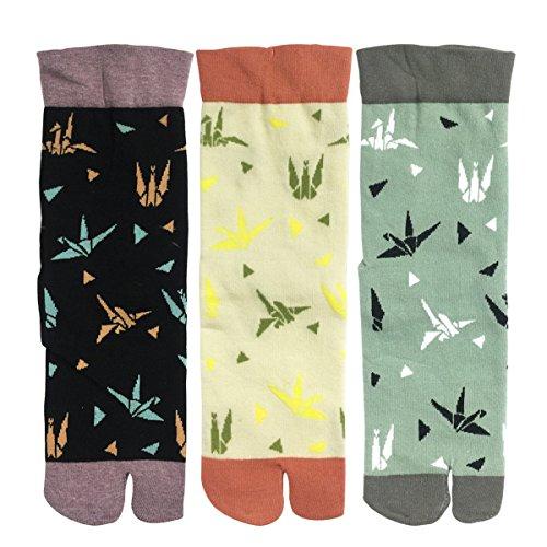 allydrew Flip Flop Socks Sandal Socks (set of 3), Paper Cranes