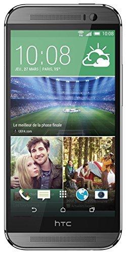 HTC One (M8) Smartphone (12,7 cm (5 Zoll) LCD-Bildschirm, Quad-Core, 2,3GHz, 2GB RAM, 5 Megapixel Frontkamera, FM-Radio, Android 4.4.2) metallgrau (Generalüberholt)