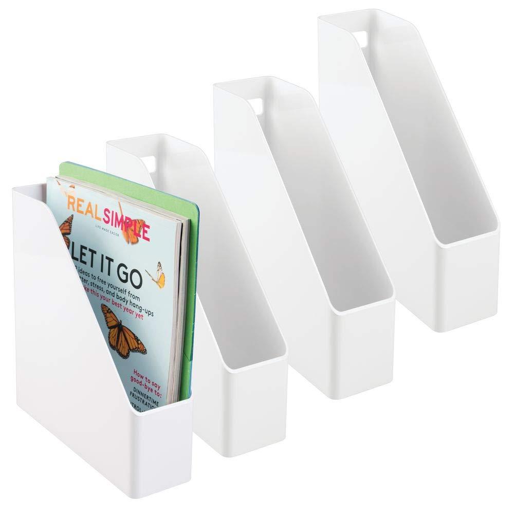mDesign Set de archivador de plástico – 4 unidades – El perfecto ...