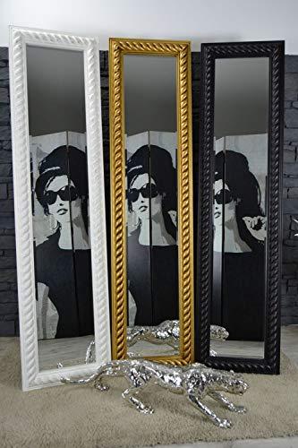 Livitat® Ankleidespiegel Standspiegel Wandspiegel Vintage Retro 160 x 40 cm ZOPF Schwarz