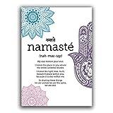 HNZKly Art Namaste DefinicióN Impresiones Namaste Poster Zen Yoga Lienzo Pinturas Yoga Pared Arte...