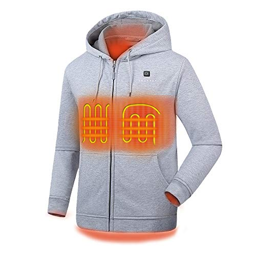 Venustas [2019 Upgrade] Heated Hoodie with Battery Pack (Unisex), Heated Hoodie for Men and Women...