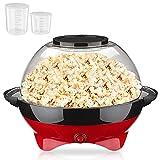 Macchina Popcorn 800 W con 2 Misurini (100 ml e 30 ml), Macchina per Popcorn Automatica, Superficie Riscaldante Rimovibile,...