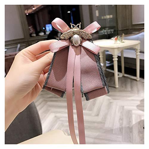yywl Spilla 2019 Nuove Donne di Moda Carino Rosa Fiocco Lungo Nastro Grande Spilla Grande per Ragazza Corsage Farfallino (Metal Color : 1)