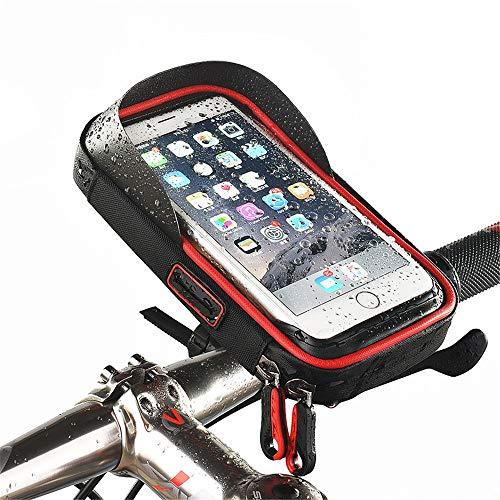 Bolsa Cuadro Bicicleta Bolsa Delantera para Bicicletas Bicicleta Impermeable para Bicicletas Marco para teléfono móvil Soporte de Pantalla táctil Bolsa para Bicicletas Adecuada para teléfonos móviles