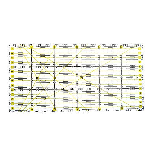 Patchwork Lineal Acryl Klar Nähen Lineale Quilt für Kleidung Handarbeitsprodukte Werkzeug Haushalt Zu