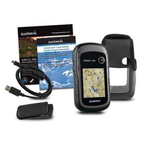 Purchase Garmin eTrex 30x TOPO GPS Bundle (100K Topographic Card, Carry Case, BirdsEye, Belt Clip), ...