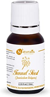 Naturalis Essence of Nature Fennel Seed Essential Oil, Natural & Therapeutic Grade for skin care, anti aging, hair growth...