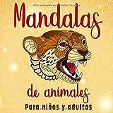 Mandalas de animales: Para niños y adultos | Mandalas Fáciles | 50 dibujos para colorear | Libro de colorear relajante. Idea de regalo Zen para niños o adultos. Formato: 21.59 21.59 cm