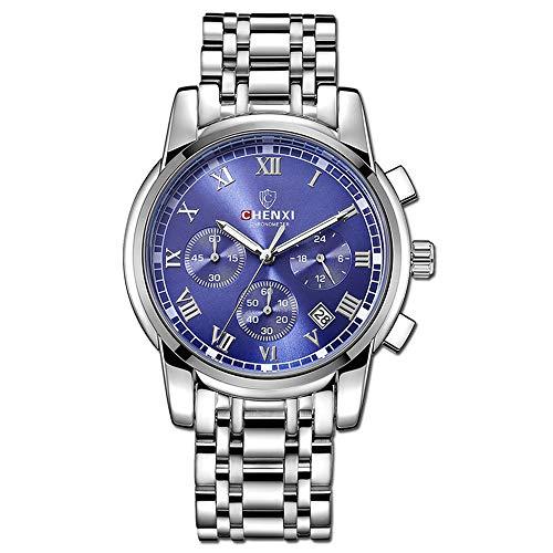 Watch,Mens Watches,Full Steel Quartz Analog Wrist Watch Men Luxury Waterproof Date Business Watch