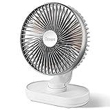 OCOOPA Ventilatore da Tavolo, Auto Oscillante di 16cm con Batteria Silenziosa, 4 Velocità Sistema Raffreddante da Tavolo, Batteria Ricaricabile a USB di 4000 mAh, per Casa, Ufficio, Argento (argento)