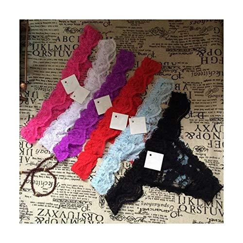 Linyuex Frauen Spitze bequem und atmungsaktiv Zapfen G-Schnur Unterwäsche-Schlüpfer Slips for Damen T-Back (Color : Zhx99suiji, Size : Small)