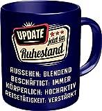RAHMENLOS Kaffeetasse für den Rentner: Update - Jetzt im Ruhestand - Im Geschenkkarton
