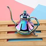 Cafetera pequeña de acero inoxidable, hervidor de agua, cafetera pequeña, para café en casa, oficina, restaurante