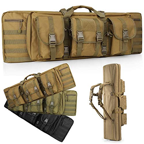 LUXHMOX 36 Inch Double-Rifle-Bag Outdoor Tactical Double Long Rifle Pistol