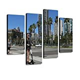 Wall Art Painting San Diego, CA/USA September 15, 2018 A Well Dressed Young Woman Pictures Canvas Prints Poster Oil Paintings Landscape Paint Modern Home Decor Artwork Gift, 4 Panels