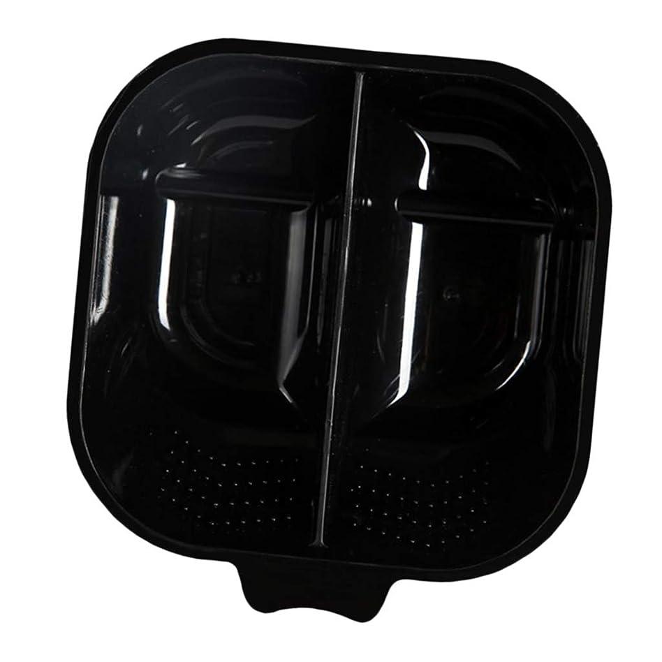 ホーム周術期誤解ヘアカラーボウル ヘアカラーリング用品 ヘアカラープレート 毛染め 染料 混ぜる サロン プロ用品 - ブラック