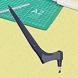 Outils de découpe en acier inoxydable avec lame rotative à 360 degrés, outil de découpe Gyro-Cut pour loisirs créatifs, scrapbooking, pochoir (1 pièce) Noir